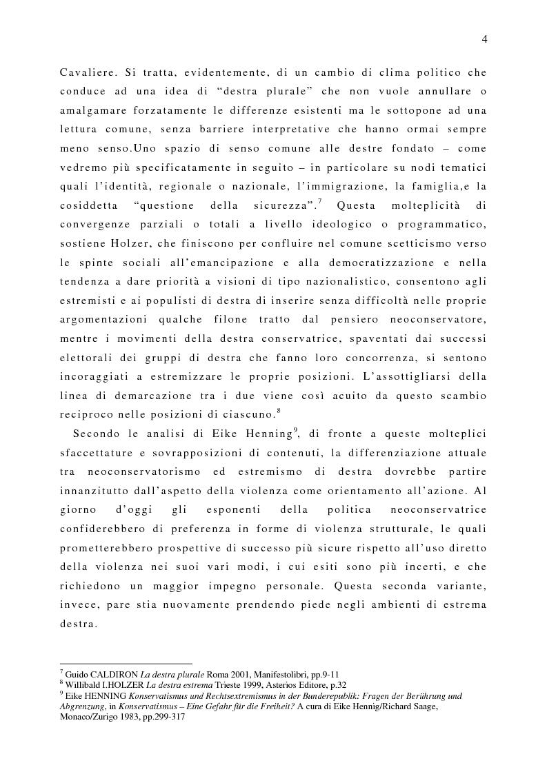 Anteprima della tesi: Il fenomeno naziskin. Analisi di una sottocultura giovanile., Pagina 4
