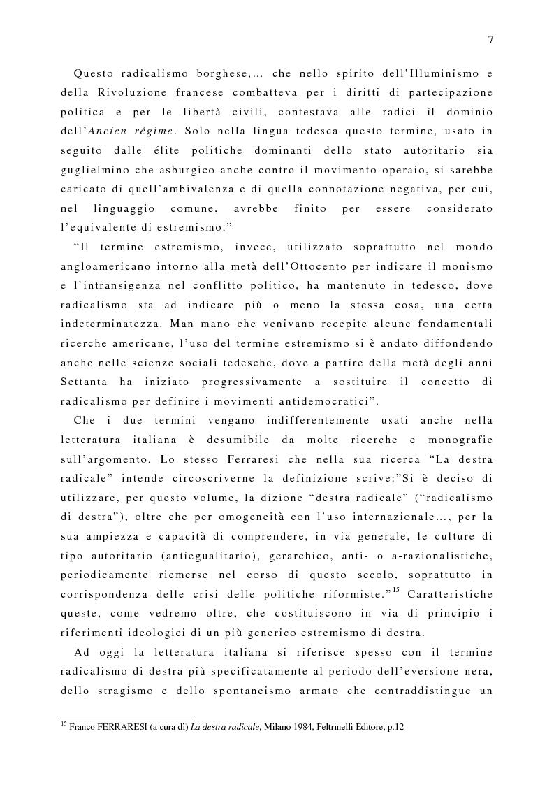 Anteprima della tesi: Il fenomeno naziskin. Analisi di una sottocultura giovanile., Pagina 7