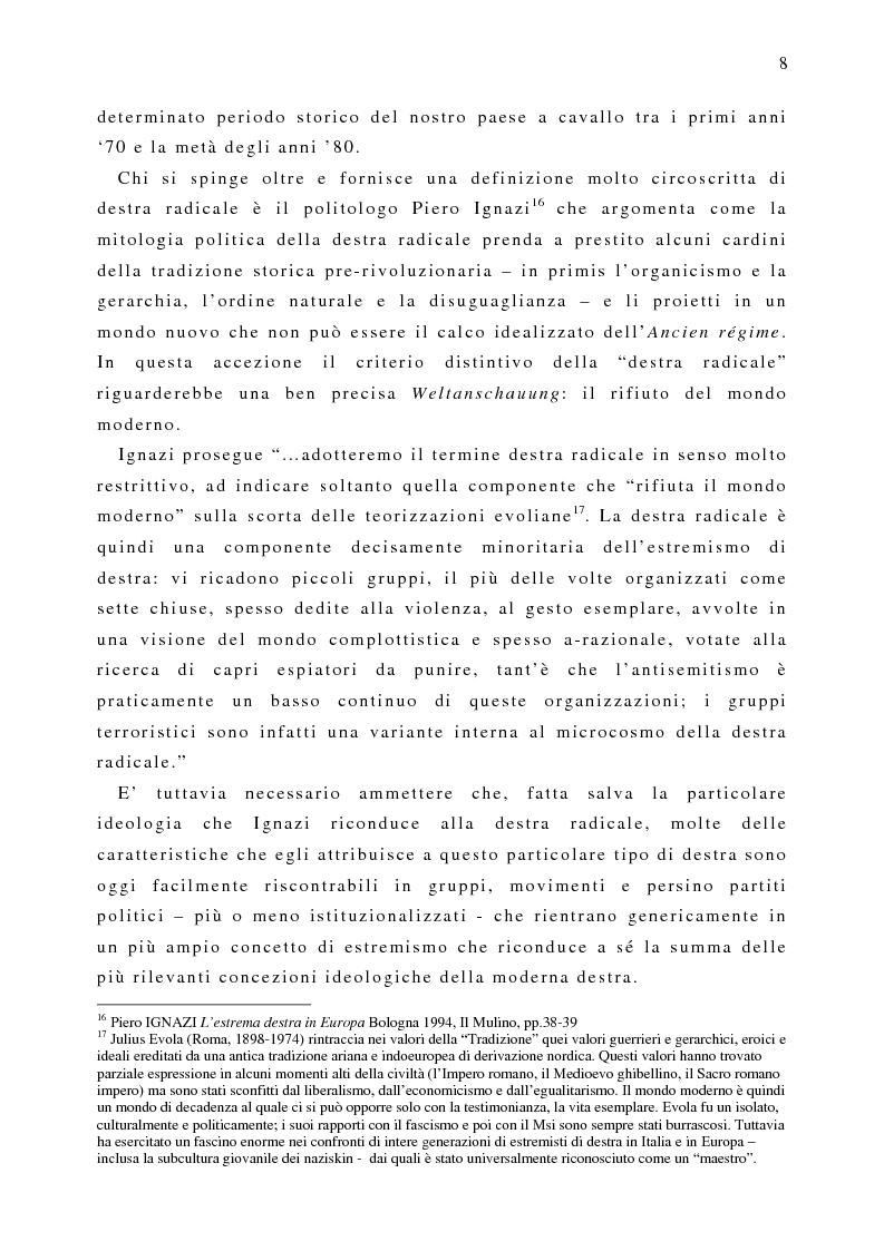 Anteprima della tesi: Il fenomeno naziskin. Analisi di una sottocultura giovanile., Pagina 8