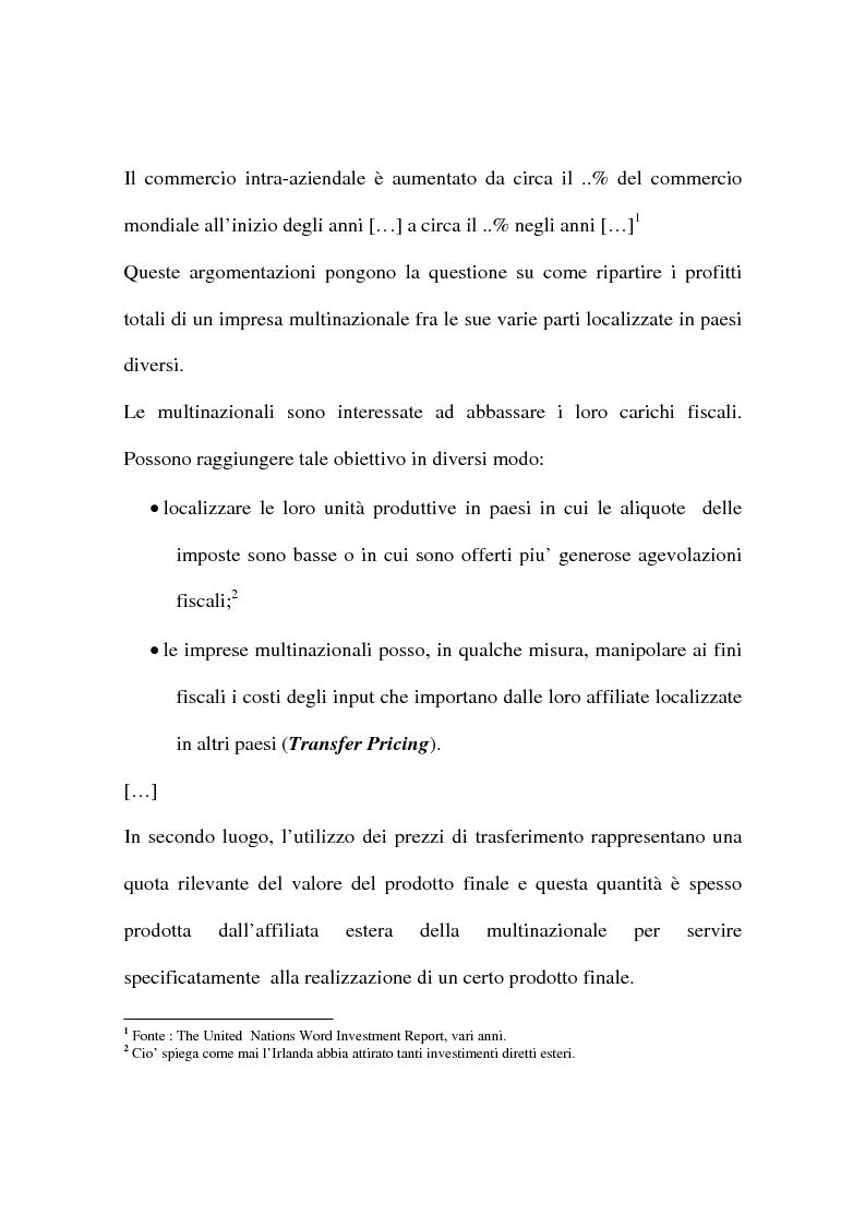 Anteprima della tesi: La concorrenza e la collaborazione fiscale (UE e OCSE), Pagina 3