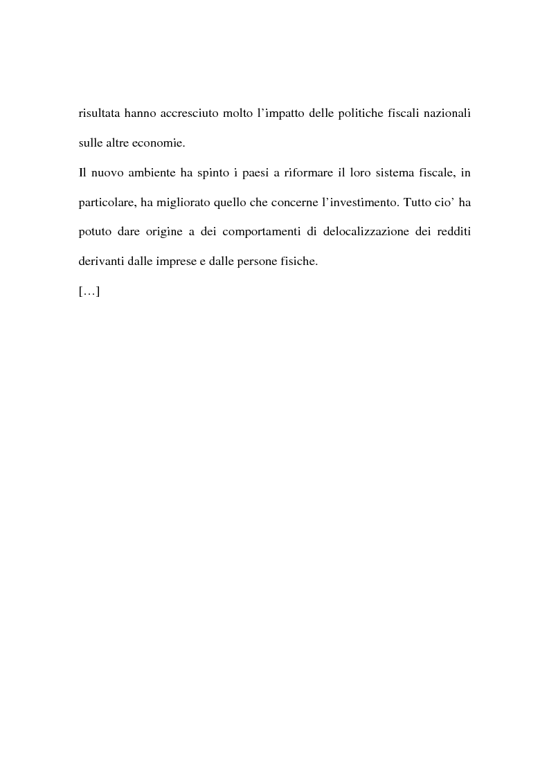 Anteprima della tesi: La concorrenza e la collaborazione fiscale (UE e OCSE), Pagina 5