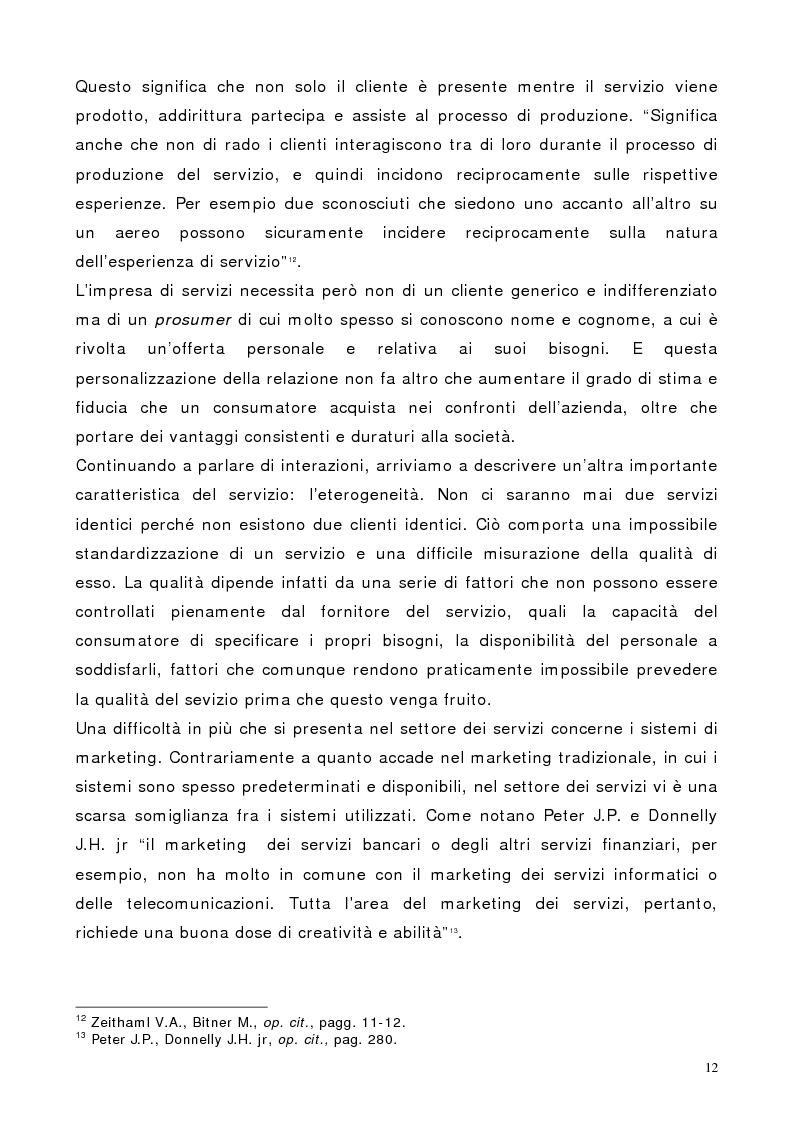 Anteprima della tesi: Il marketing dei servizi nel settore delle compagnie aeree. Il caso Air One., Pagina 10