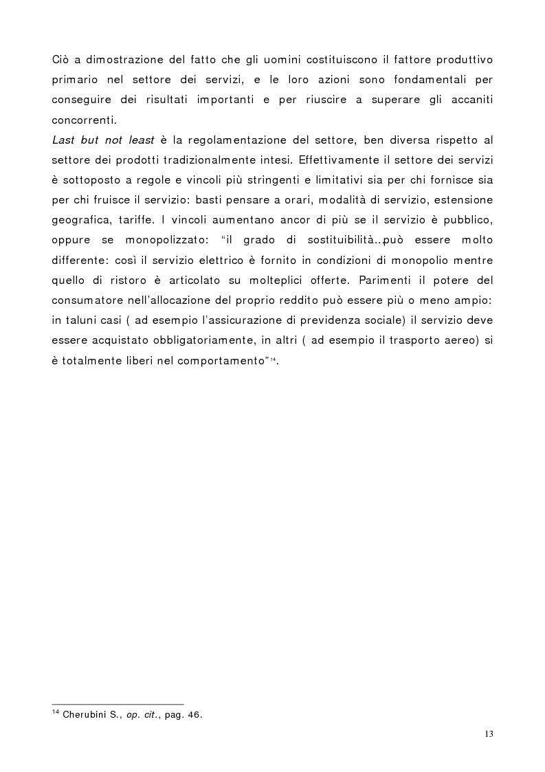 Anteprima della tesi: Il marketing dei servizi nel settore delle compagnie aeree. Il caso Air One., Pagina 11