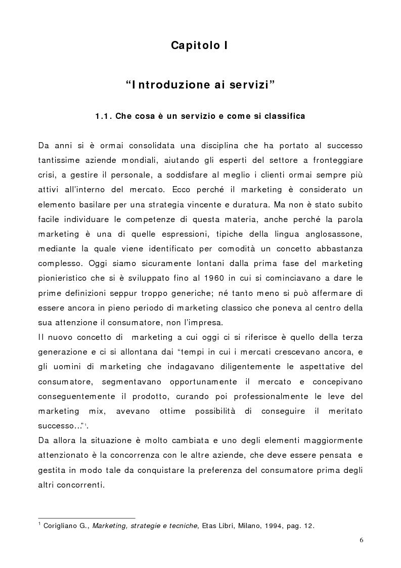 Anteprima della tesi: Il marketing dei servizi nel settore delle compagnie aeree. Il caso Air One., Pagina 4
