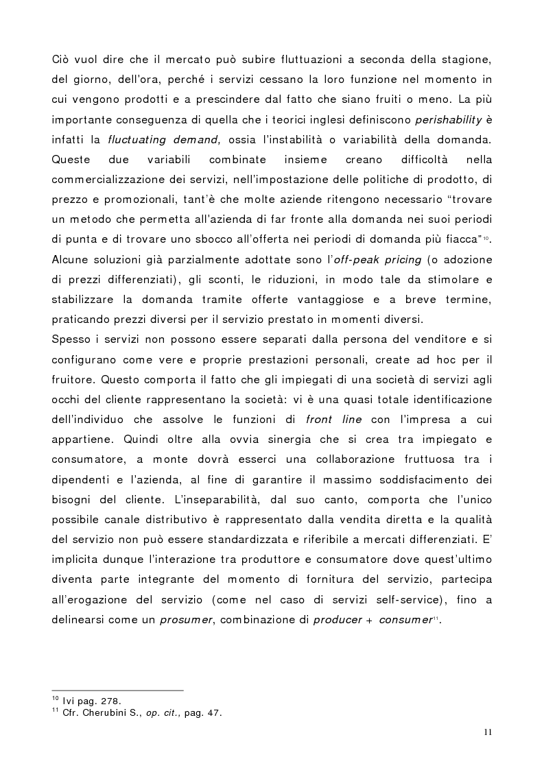 Anteprima della tesi: Il marketing dei servizi nel settore delle compagnie aeree. Il caso Air One., Pagina 9