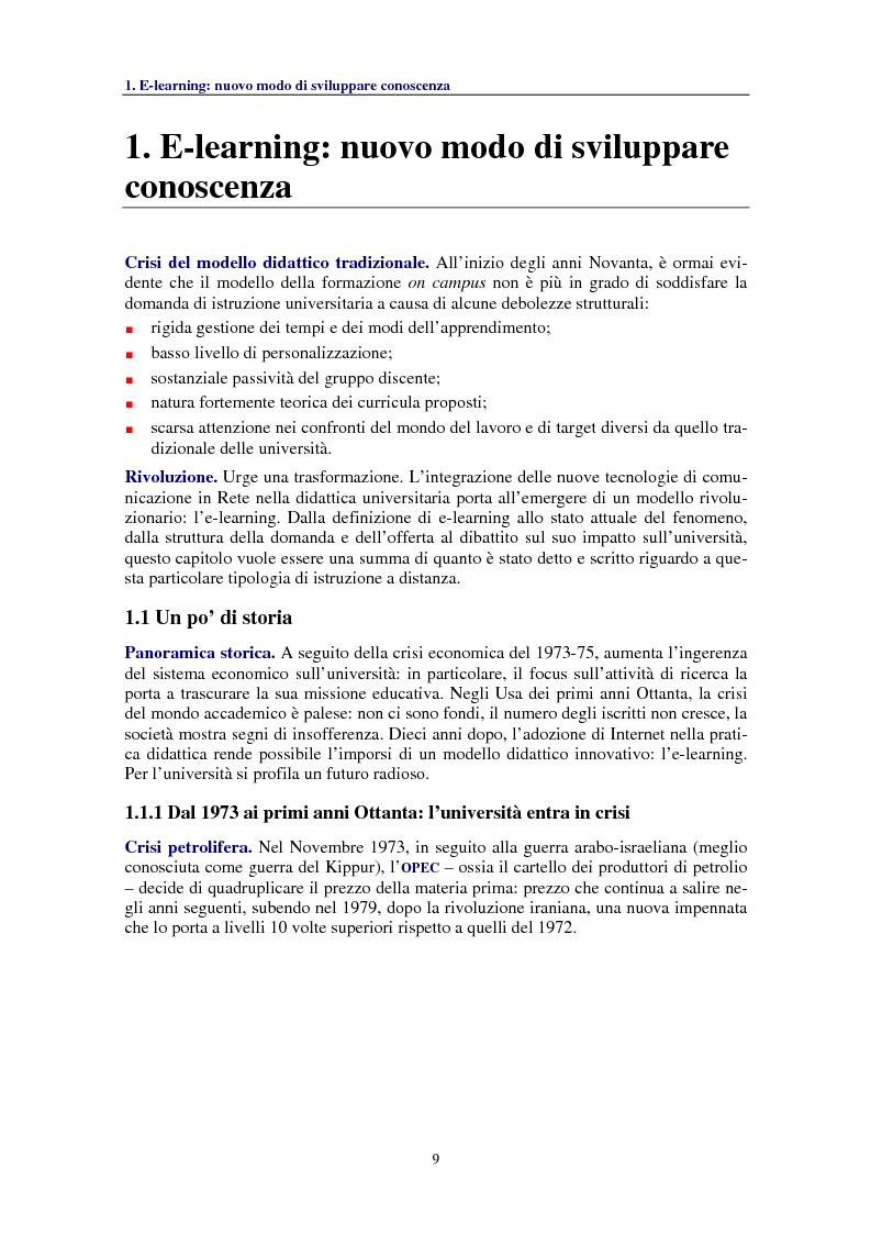 Anteprima della tesi: Socializzare la conoscenza: il progetto OpenCourseWare del MIT, Pagina 1