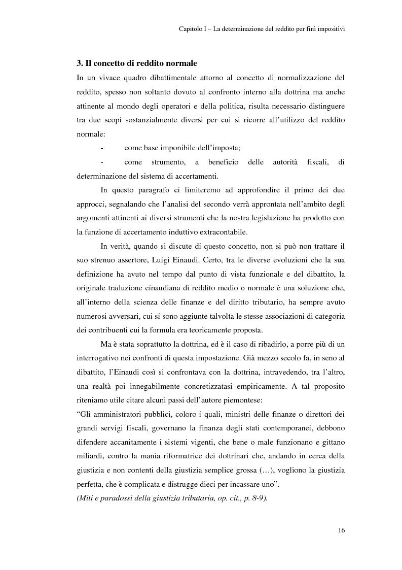 Anteprima della tesi: Gli studi di settore: un trade-off tra semplicità amministrativa ed equità del prelievo, Pagina 12
