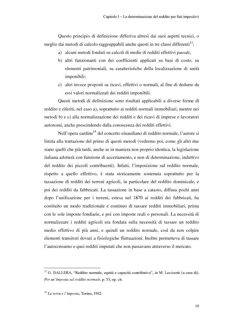 Anteprima della tesi: Gli studi di settore: un trade-off tra semplicità amministrativa ed equità del prelievo, Pagina 15