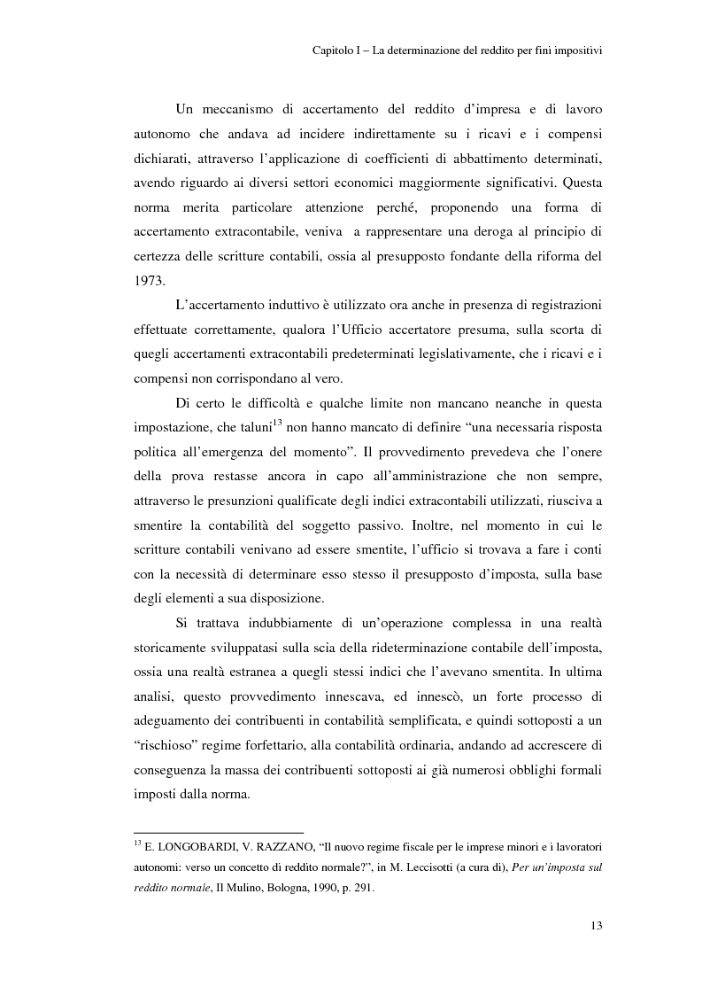 Anteprima della tesi: Gli studi di settore: un trade-off tra semplicità amministrativa ed equità del prelievo, Pagina 9