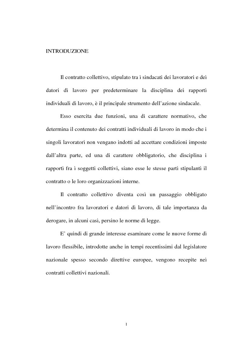 Anteprima della tesi: La flessibilità ed il contratto collettivo nazionale bancari, Pagina 1