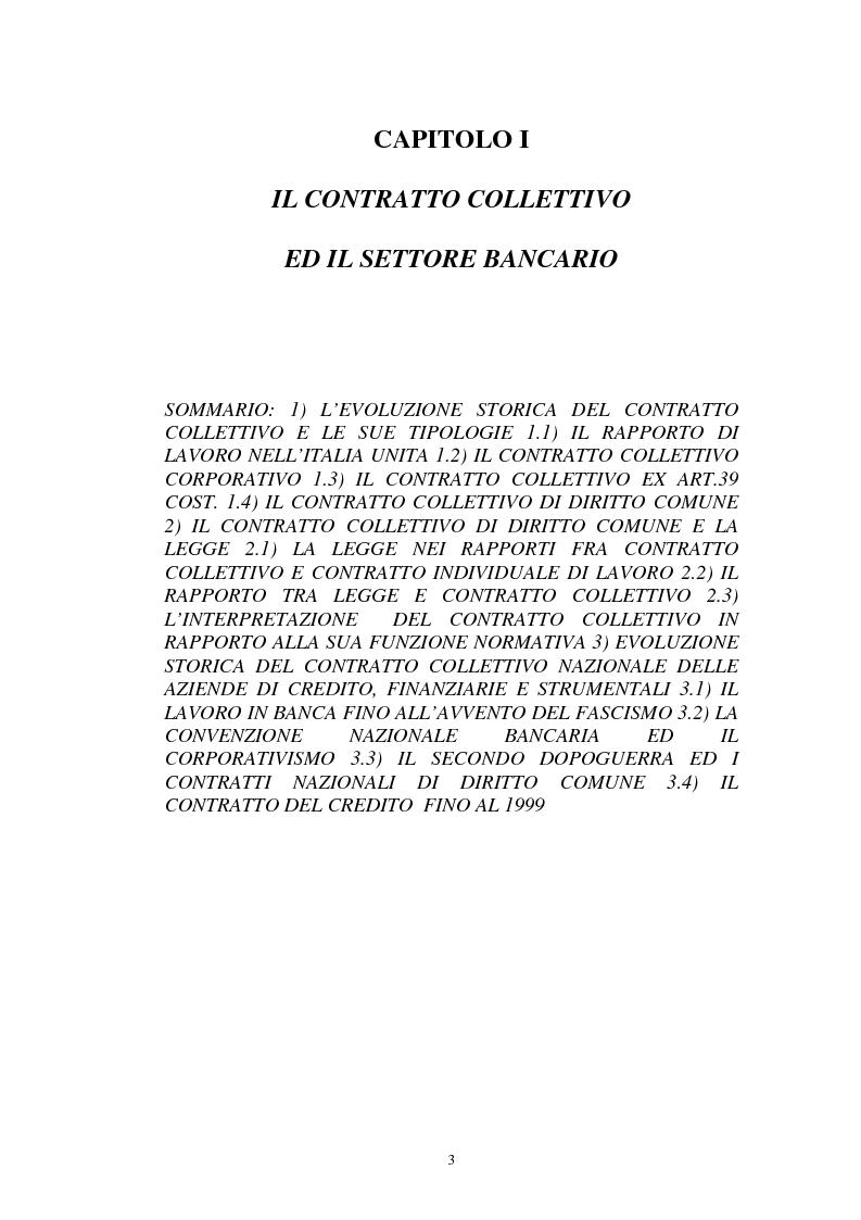 Anteprima della tesi: La flessibilità ed il contratto collettivo nazionale bancari, Pagina 3