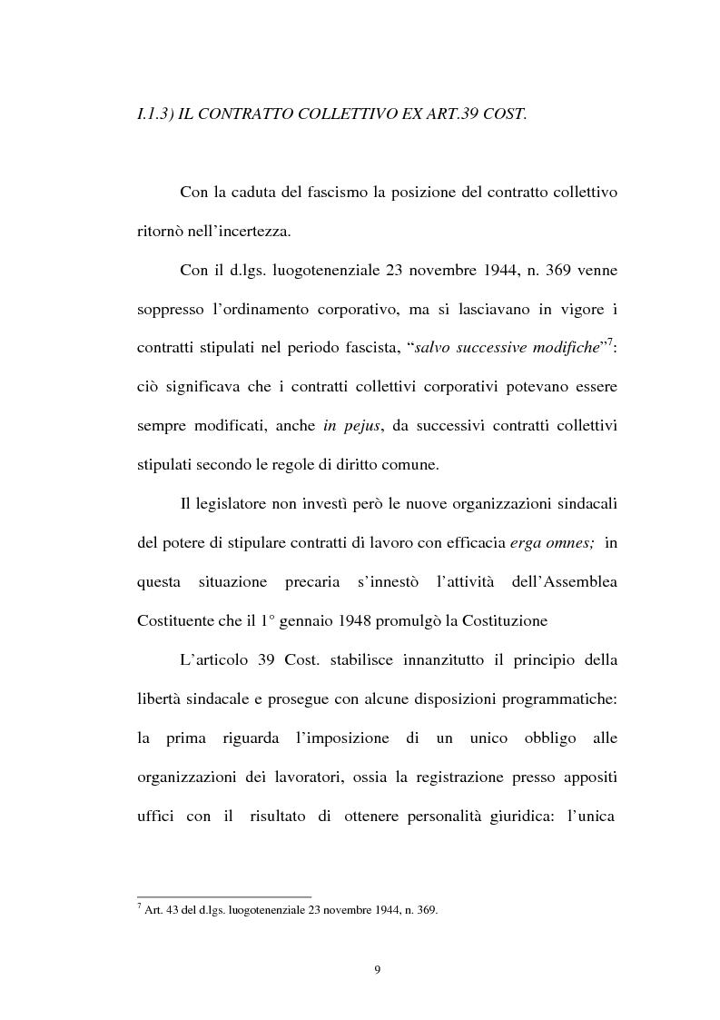 Anteprima della tesi: La flessibilità ed il contratto collettivo nazionale bancari, Pagina 9