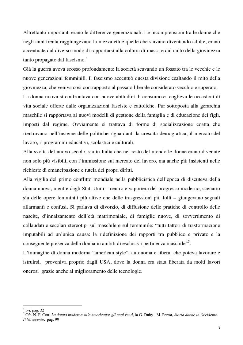 Anteprima della tesi: Le donne e il fascismo, Pagina 3