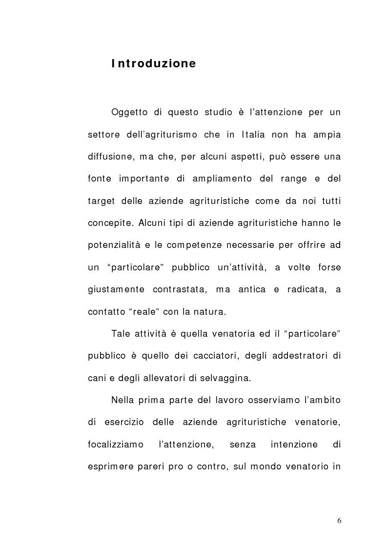 Anteprima della tesi: Aziende agrituristiche venatorie: aspetti economici, organizzativi e prospettive di sviluppo nell'ottica di destagionalizzazione., Pagina 1