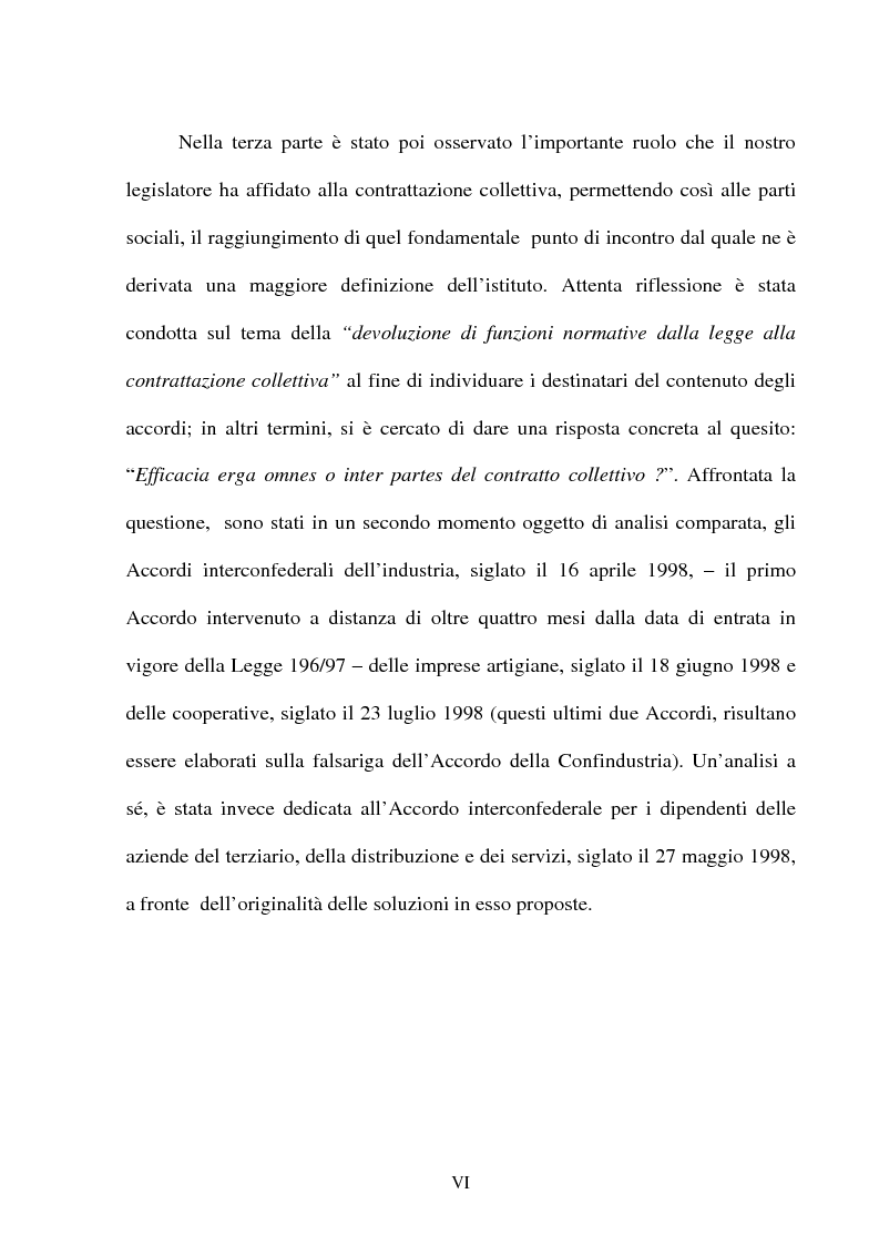 Anteprima della tesi: Il lavoro temporaneo fra flessibilità e tutela, Pagina 3