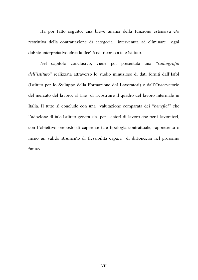 Anteprima della tesi: Il lavoro temporaneo fra flessibilità e tutela, Pagina 4