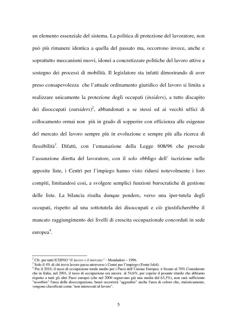 Anteprima della tesi: Il lavoro temporaneo fra flessibilità e tutela, Pagina 9