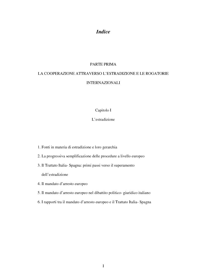 Indice della tesi: La cooperazione penale internazionale: profili di diritto sostanziale, Pagina 1