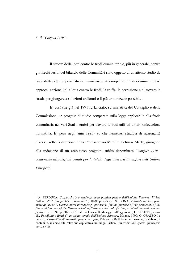 Anteprima della tesi: La cooperazione penale internazionale: profili di diritto sostanziale, Pagina 1
