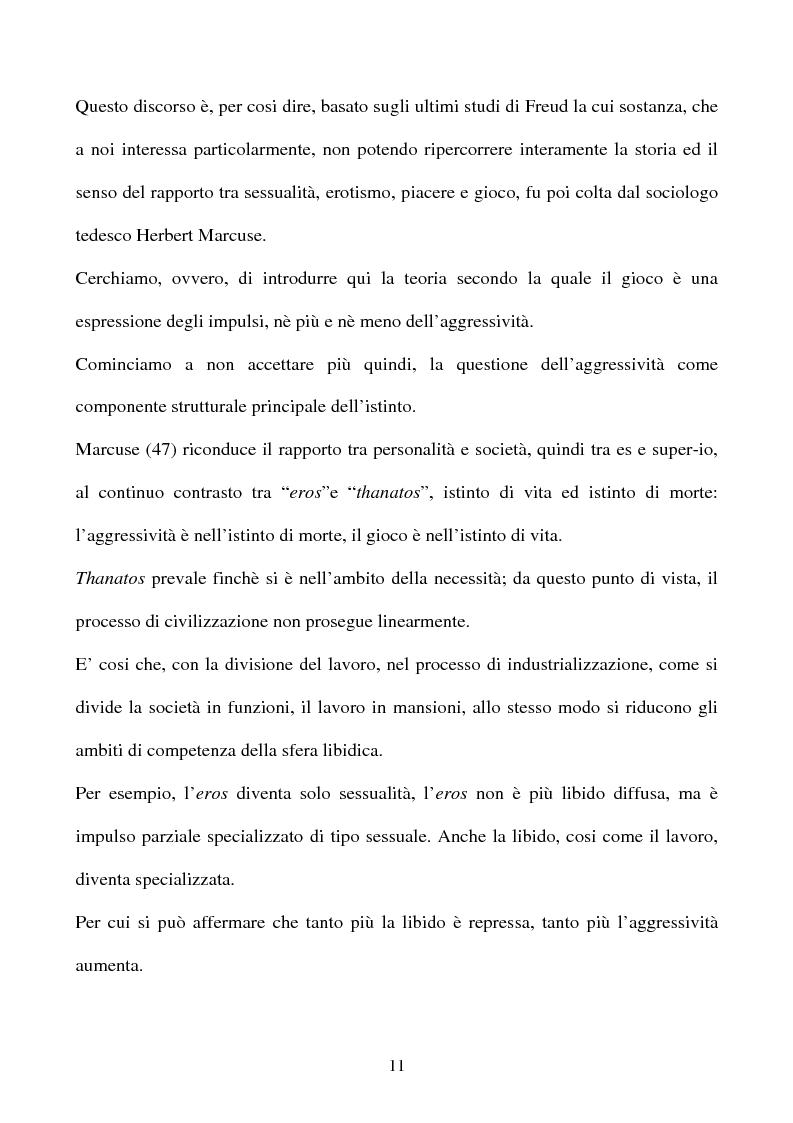 Anteprima della tesi: ''I significati del Calcio''. Sport, società e tifosi, con particolare riferimento alla vicenda cosentina., Pagina 11
