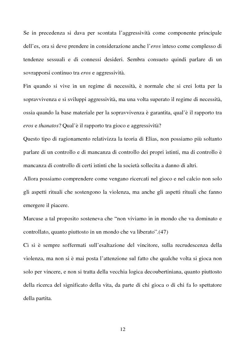 Anteprima della tesi: ''I significati del Calcio''. Sport, società e tifosi, con particolare riferimento alla vicenda cosentina., Pagina 12