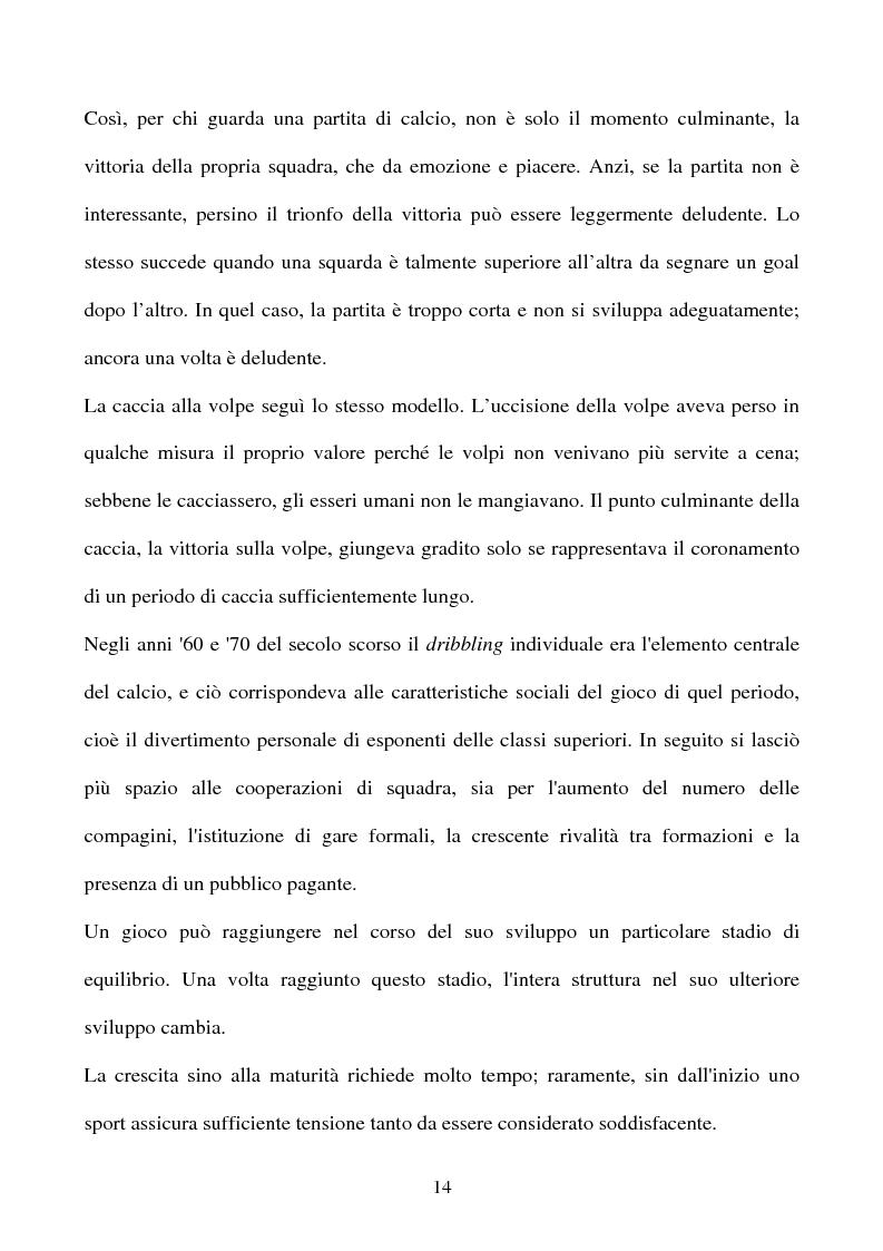 Anteprima della tesi: ''I significati del Calcio''. Sport, società e tifosi, con particolare riferimento alla vicenda cosentina., Pagina 14