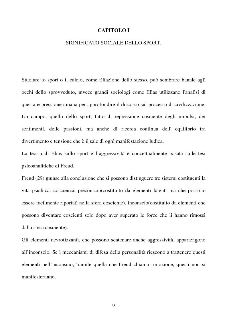 Anteprima della tesi: ''I significati del Calcio''. Sport, società e tifosi, con particolare riferimento alla vicenda cosentina., Pagina 9
