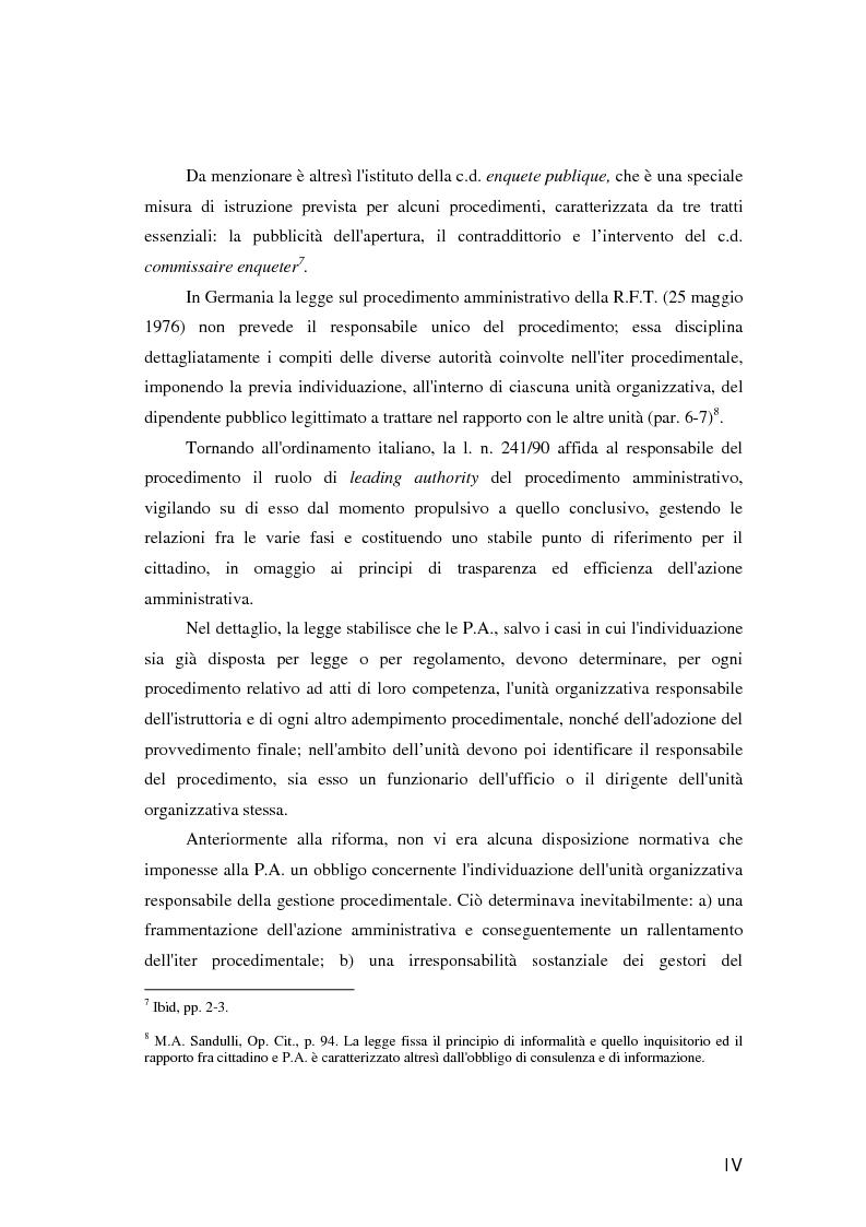 Anteprima della tesi: Il responsabile del procedimento amministrativo, Pagina 3