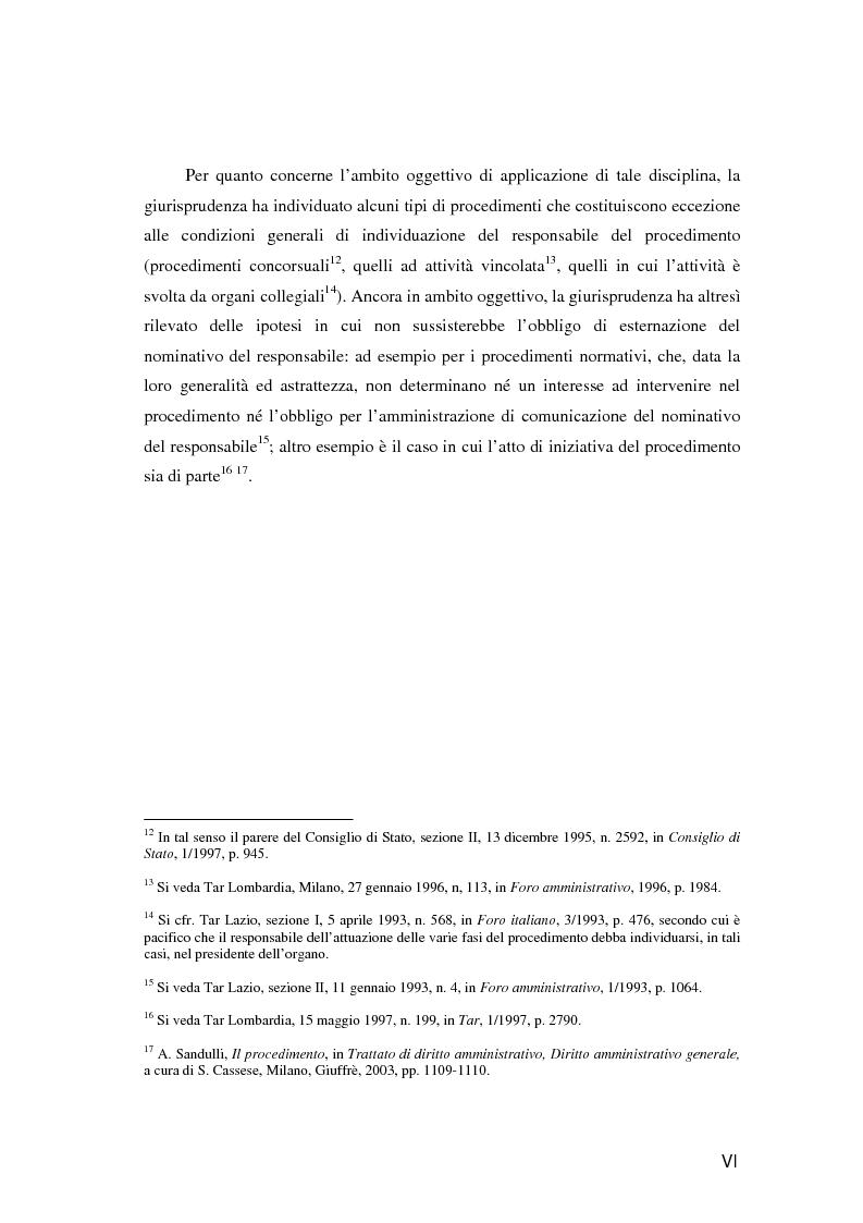 Anteprima della tesi: Il responsabile del procedimento amministrativo, Pagina 5