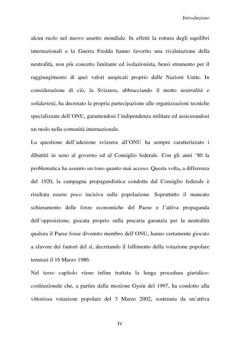 Anteprima della tesi: Svizzera e ONU: alla ricerca di una difficile neutralità, Pagina 4