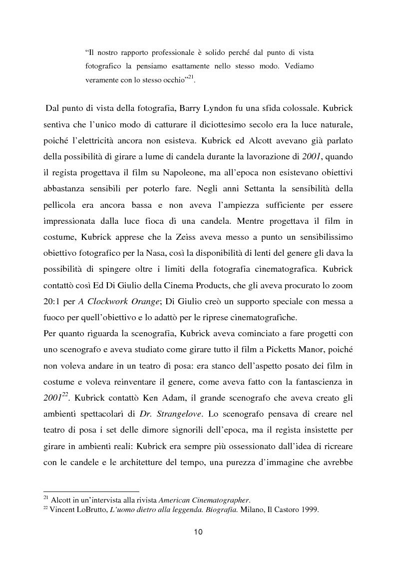 Anteprima della tesi: Barry Lyndon tra letteratura e cinema, Pagina 10