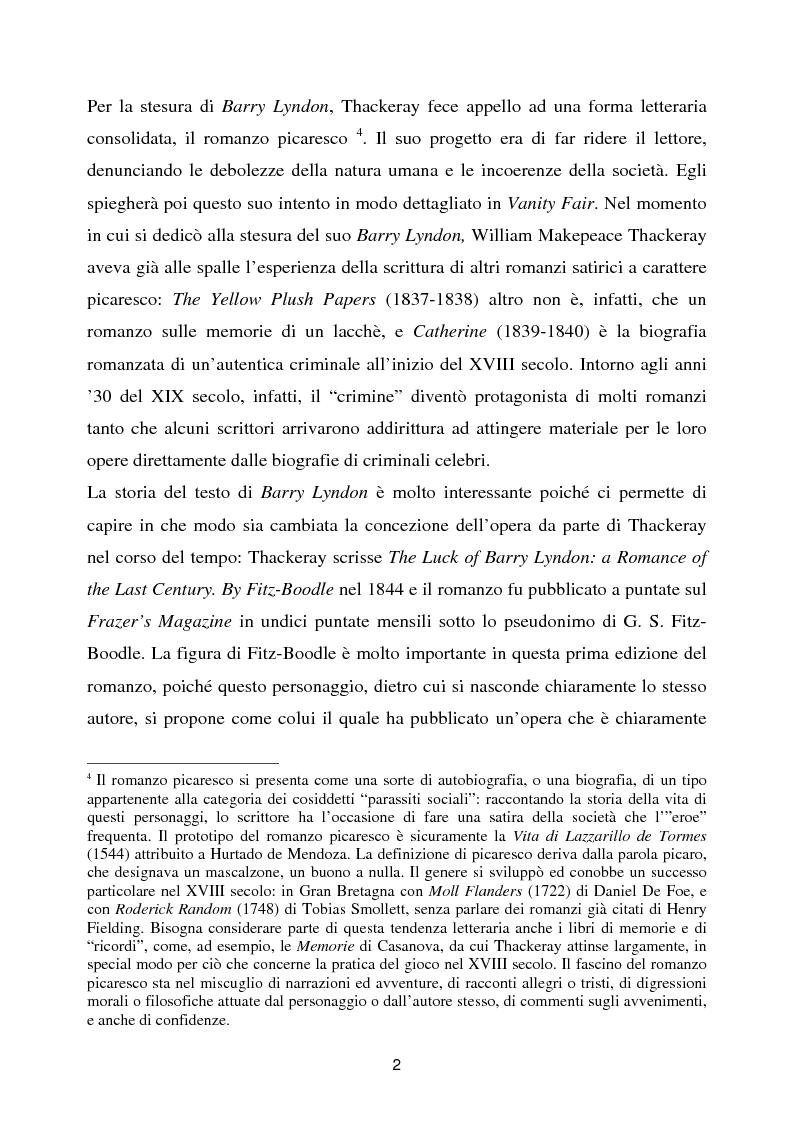 Anteprima della tesi: Barry Lyndon tra letteratura e cinema, Pagina 2