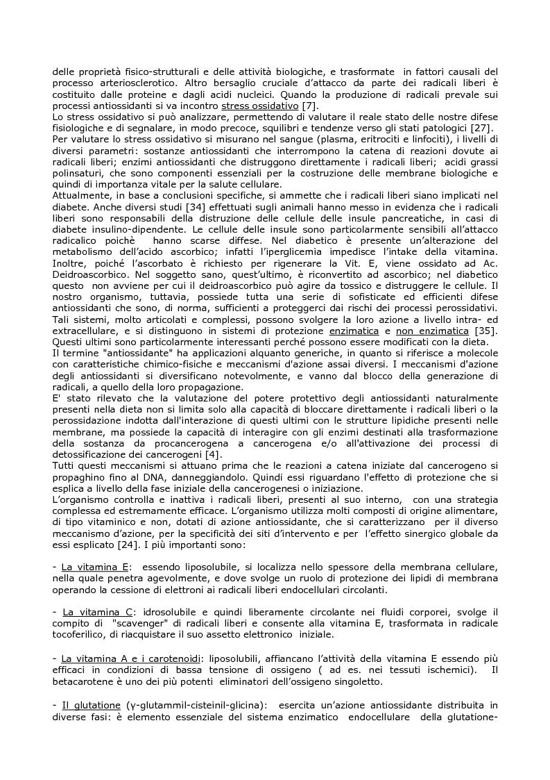 Anteprima della tesi: Efficacia del modello alimentare mediterraneo sulla protezione da stress ossidativo nei diabetici, Pagina 3
