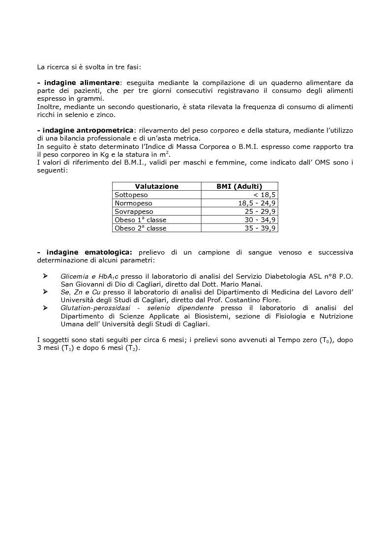 Anteprima della tesi: Efficacia del modello alimentare mediterraneo sulla protezione da stress ossidativo nei diabetici, Pagina 6