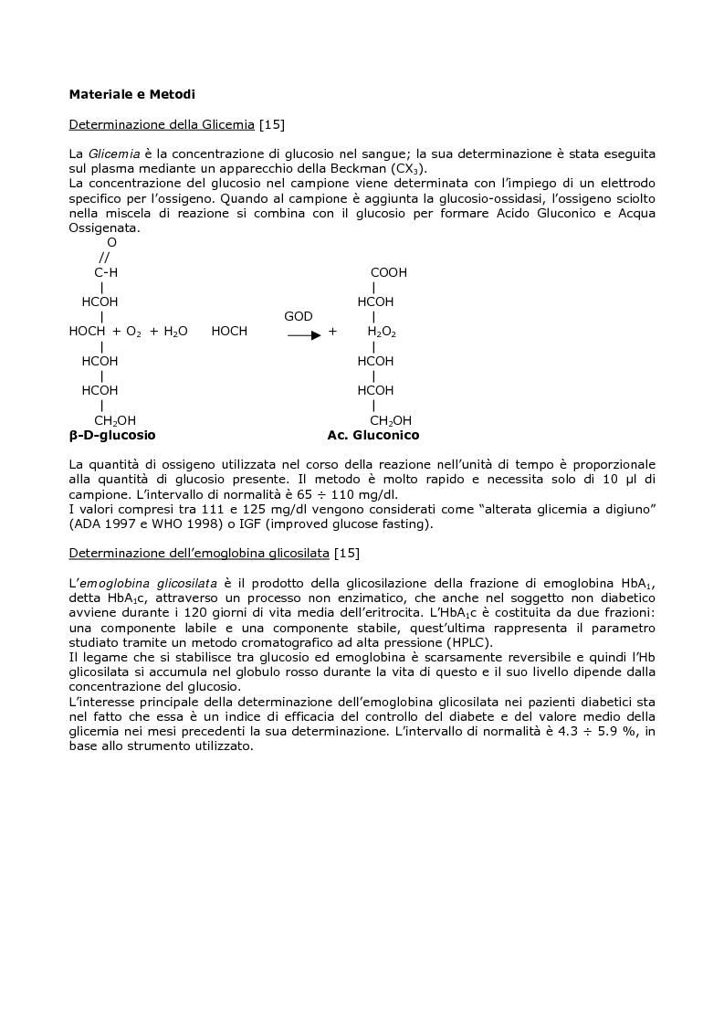 Anteprima della tesi: Efficacia del modello alimentare mediterraneo sulla protezione da stress ossidativo nei diabetici, Pagina 7