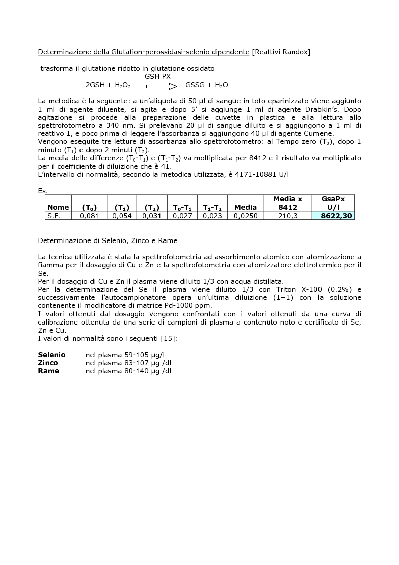 Anteprima della tesi: Efficacia del modello alimentare mediterraneo sulla protezione da stress ossidativo nei diabetici, Pagina 8