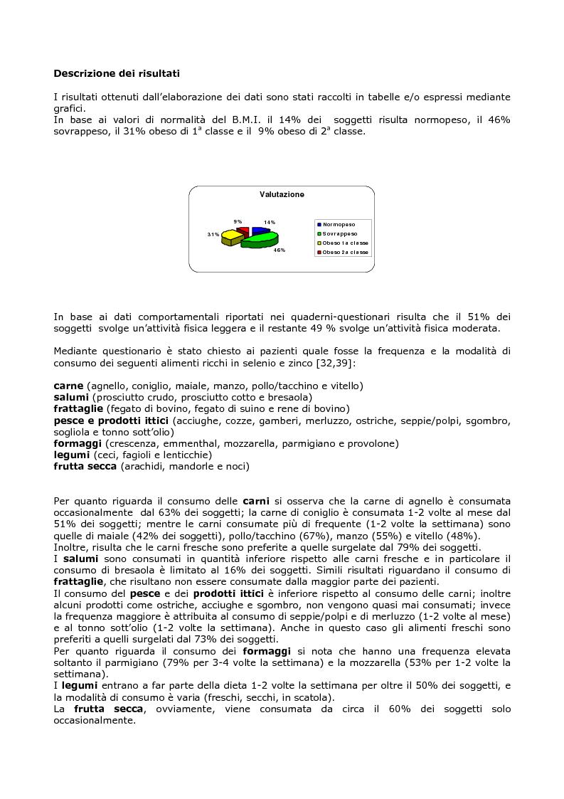 Anteprima della tesi: Efficacia del modello alimentare mediterraneo sulla protezione da stress ossidativo nei diabetici, Pagina 9