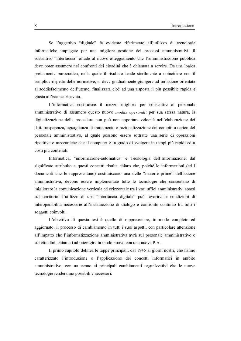 Anteprima della tesi: L'interfaccia digitale della Pubblica Amministrazione, Pagina 2