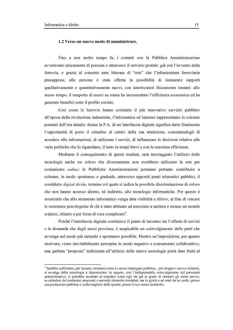Anteprima della tesi: L'interfaccia digitale della Pubblica Amministrazione, Pagina 9