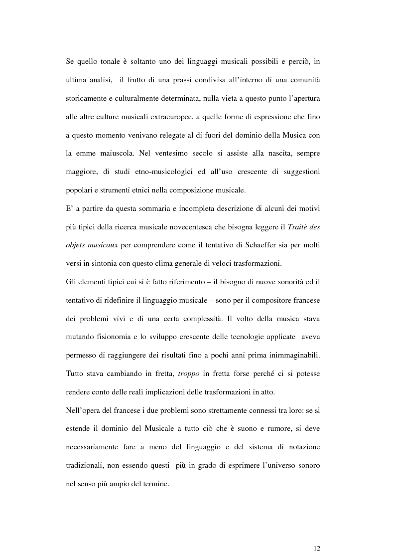 Anteprima della tesi: Pierre Schaeffer e l'oggetto sonoro, Pagina 10