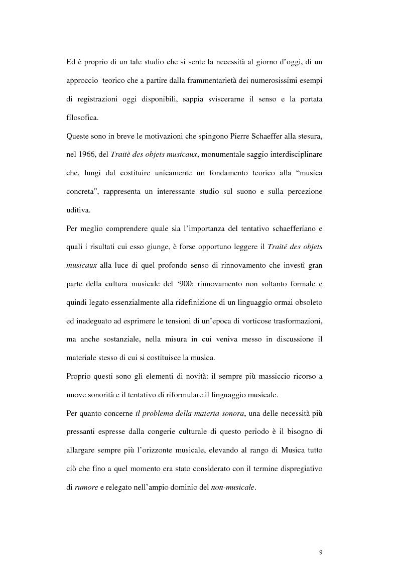 Anteprima della tesi: Pierre Schaeffer e l'oggetto sonoro, Pagina 7