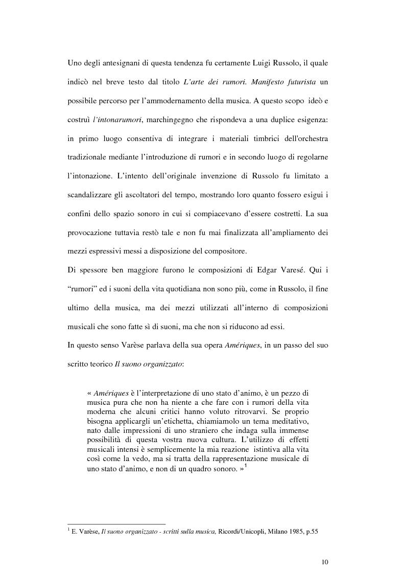 Anteprima della tesi: Pierre Schaeffer e l'oggetto sonoro, Pagina 8