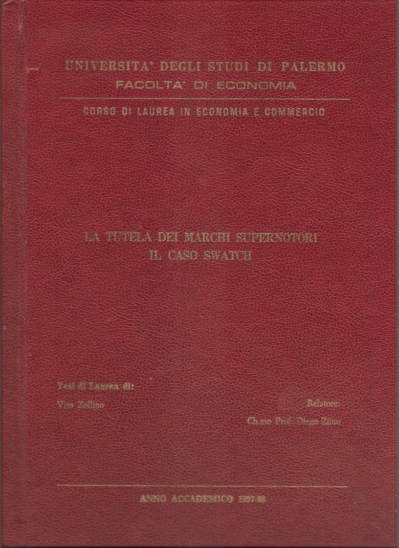 Anteprima della tesi: La Tutela dei Marchi Supernotori il caso Swatch. Il contratto di franchising, Pagina 1