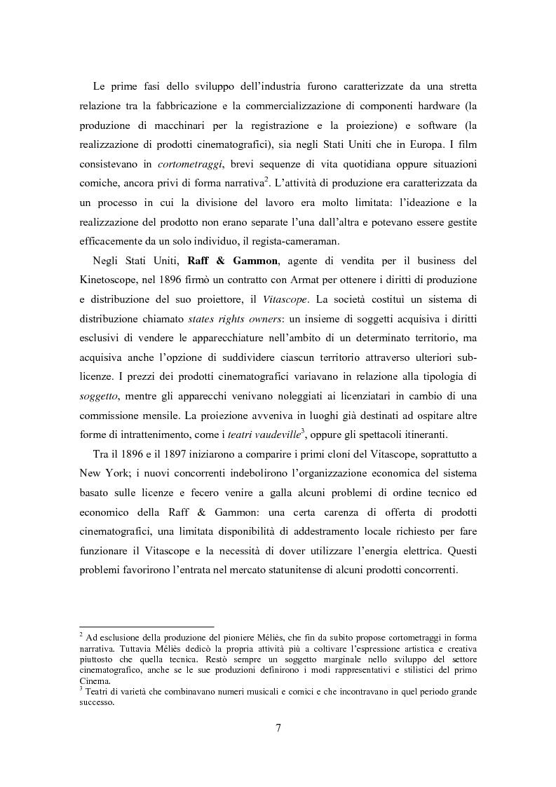Anteprima della tesi: La distribuzione nell'industria cinematografica, Pagina 4