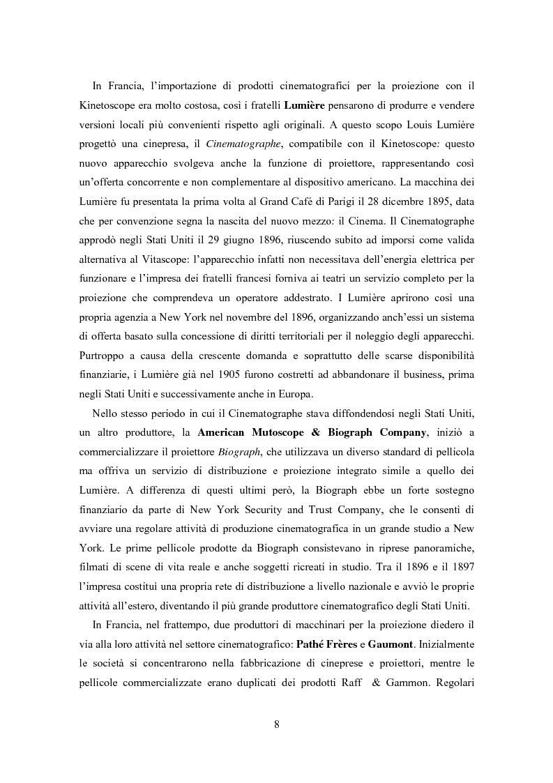 Anteprima della tesi: La distribuzione nell'industria cinematografica, Pagina 5
