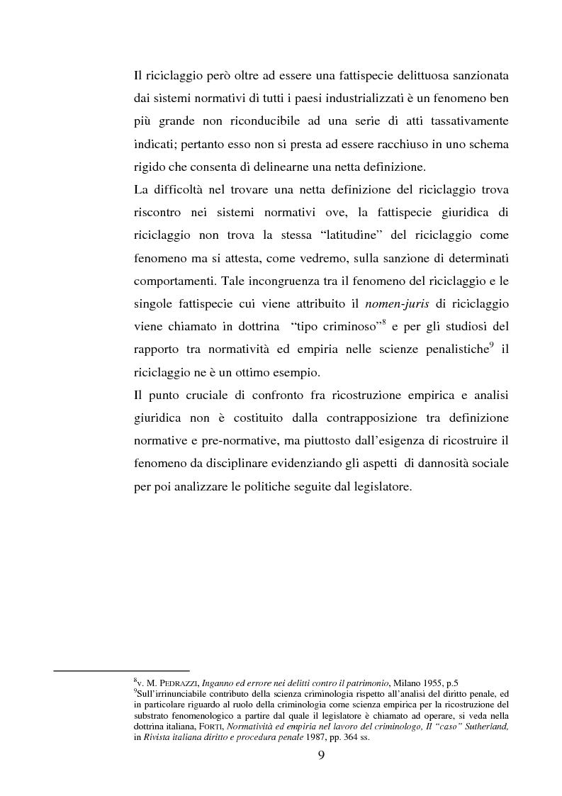 Anteprima della tesi: Evoluzione della normativa antiriciclaggio dalla legge n. 197/1991 alle questioni poste con il c.d. ''scudo fiscale'', Pagina 6