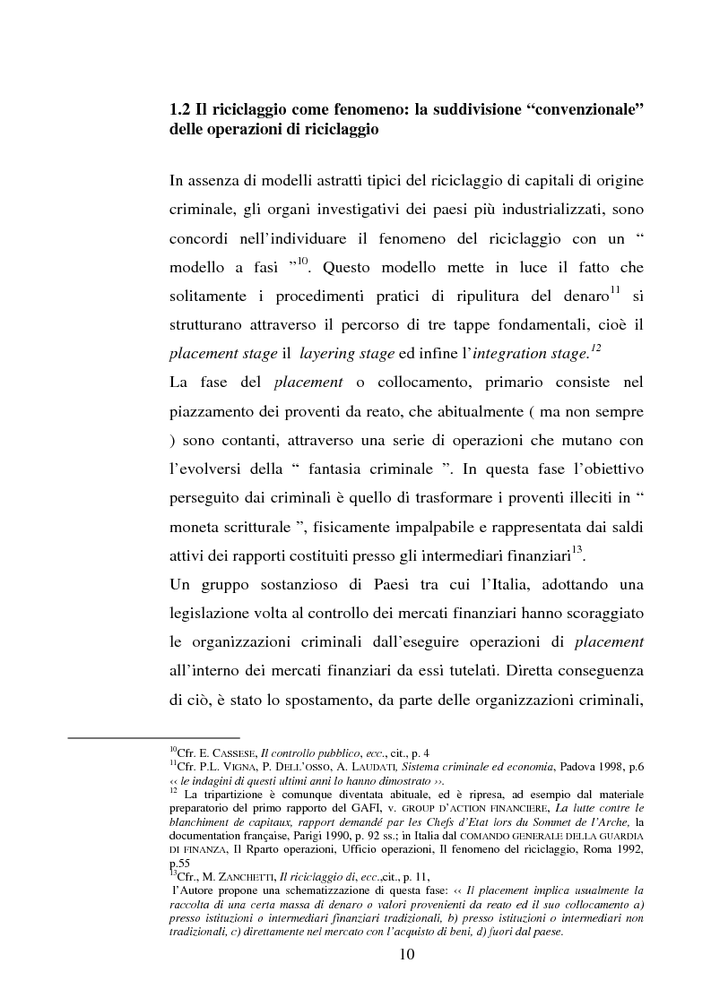 Anteprima della tesi: Evoluzione della normativa antiriciclaggio dalla legge n. 197/1991 alle questioni poste con il c.d. ''scudo fiscale'', Pagina 7