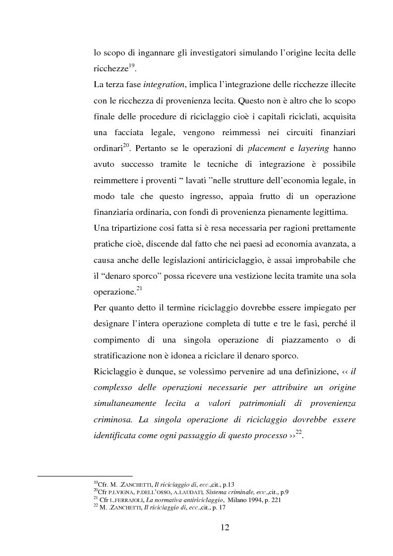 Anteprima della tesi: Evoluzione della normativa antiriciclaggio dalla legge n. 197/1991 alle questioni poste con il c.d. ''scudo fiscale'', Pagina 9
