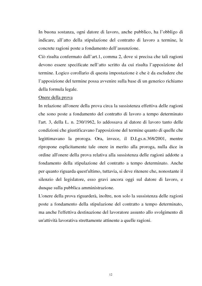 Anteprima della tesi: Il contratto a termine nel pubblico impiego, Pagina 10