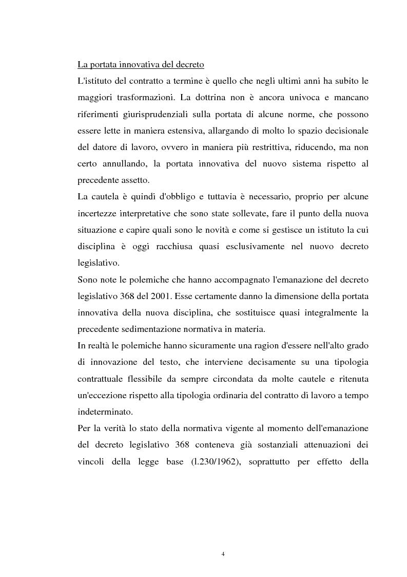 Anteprima della tesi: Il contratto a termine nel pubblico impiego, Pagina 2